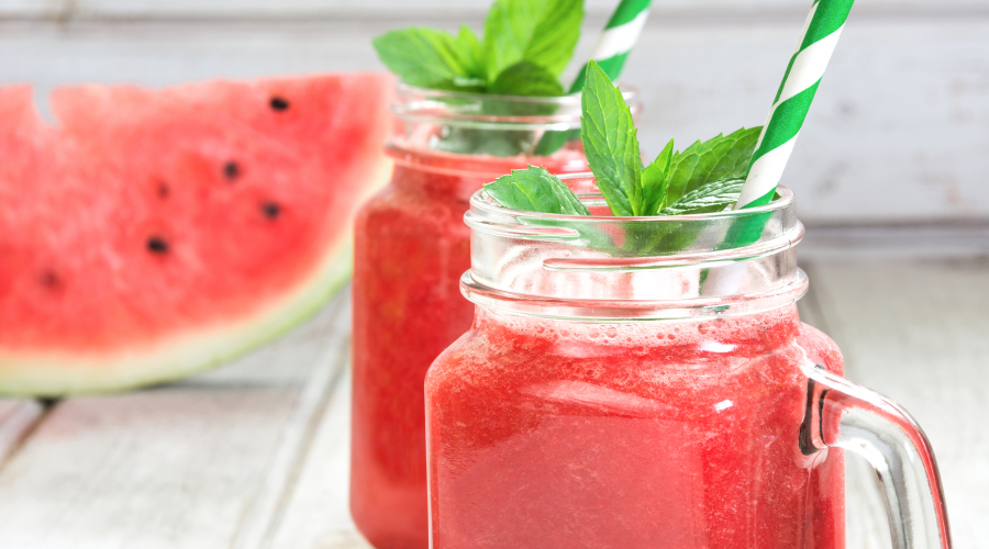Watermelon Juice hydrates the skin and may detox your body