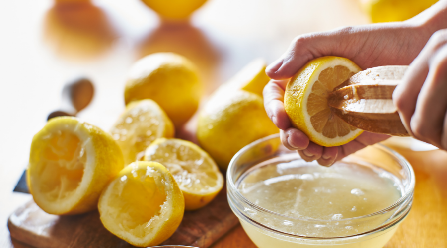 Lemon Juice are filled with antioxidants to help fight aging skin