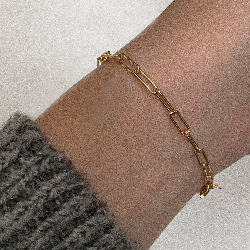 The Paperclip Chain Bracelet