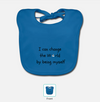 Organic 'I can change the world' Bib - Mindfully Kids