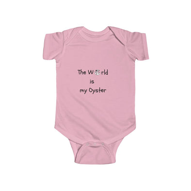 The World is my Oyster short sleeve body suit - Mindfully Kids