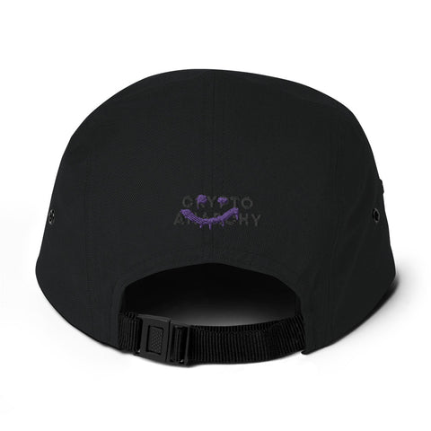 Black on Black Logo Hat - 5 Panel Camper