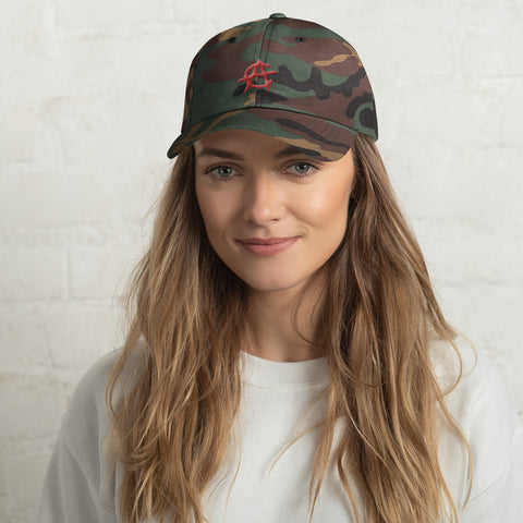 Crypto Anarchy Logo Camo Hat