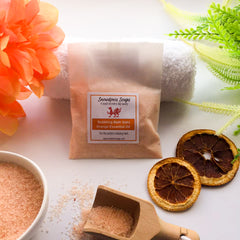 epsom salts bath salts with sweet orange essential oil