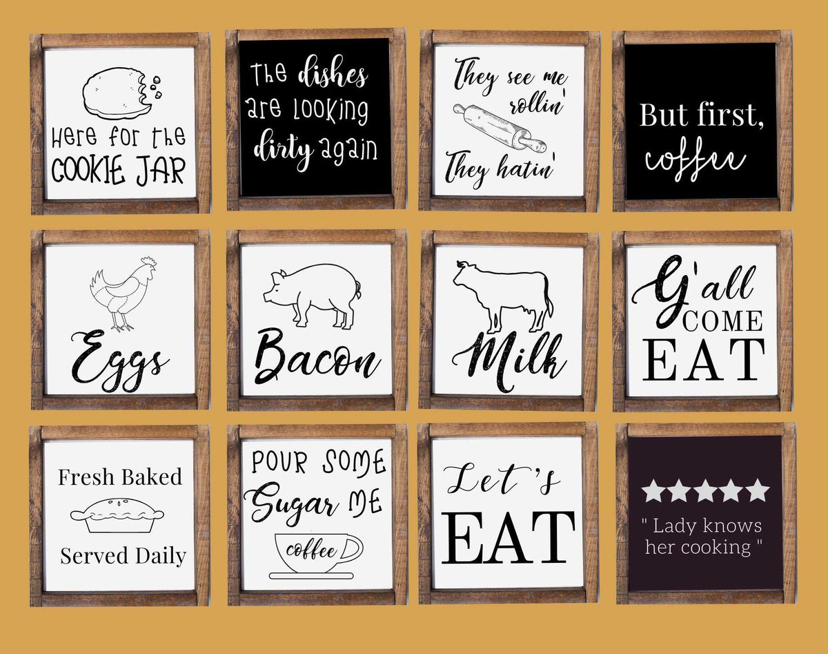 Rustic farmhouse wood signs for kitchen, Custom made for ...