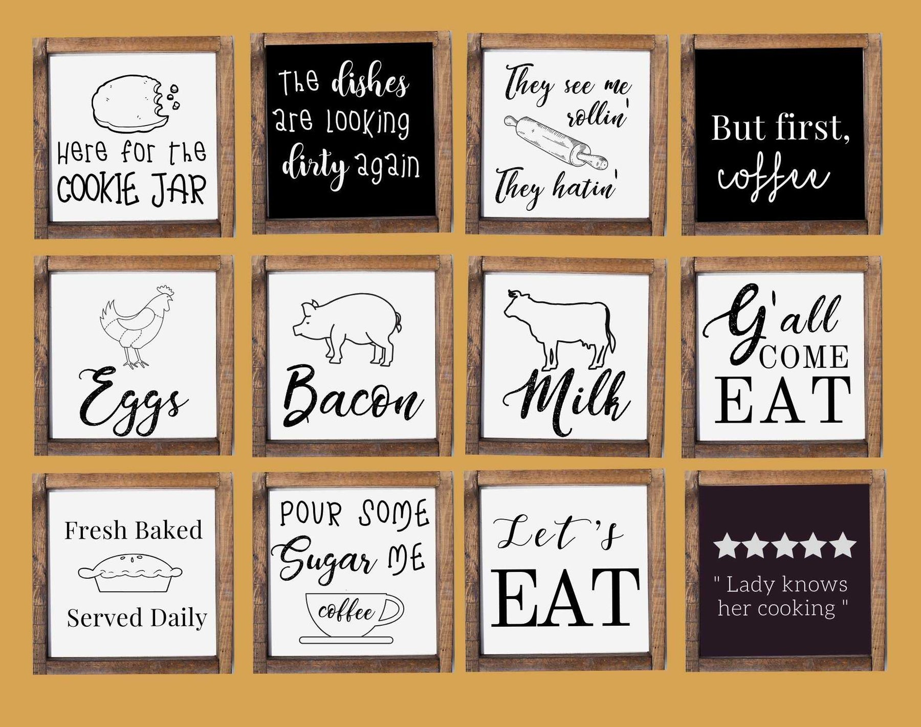 Rustic farmhouse wood signs for kitchen, Custom made for home wall decor