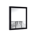 7x7 Picture Frame Black Wood with Glass 7x7 Photo Frame - 7 x 7 Poster Frame