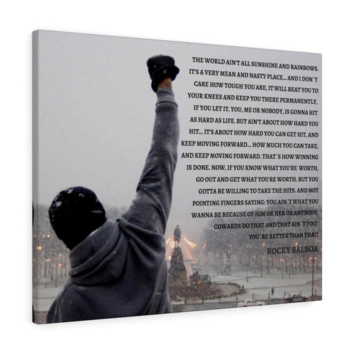 ROCKY BALBOA CANVAS ART PRINT