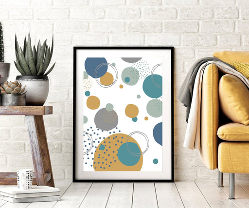 Abstract Circle Canvas Print Art or Framed Wall Art Home Decor