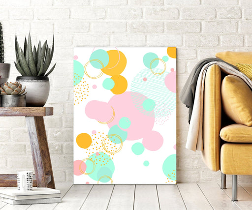 Abstract Wall Art Pink Canvas Print or Framed Art