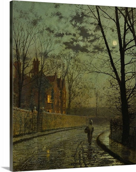 After the Shower by John Grimshaw Classic Art Canvas Print