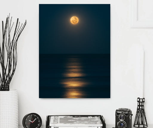 Canvas Art Moon Night Print Home Wall Decor Abstract