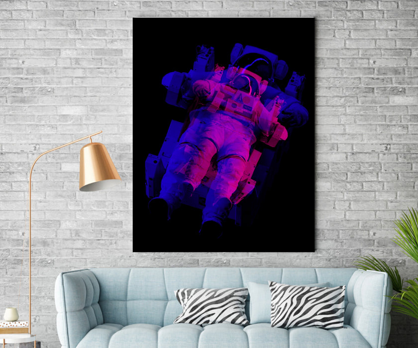 Space Astronaut Canvas Art Print Home Wall Decor Abstract Pop Art