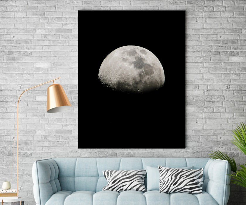 Abstract Space Moon Canvas Art Print Home Wall Decor