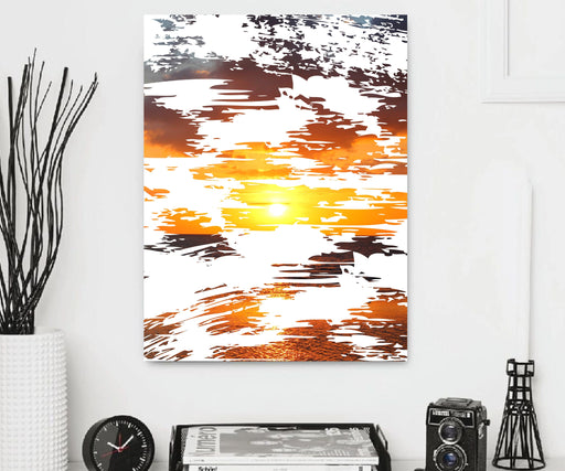 Abstract shape sunset Canvas Art Print Wall Decor