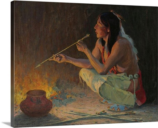 Arrow Maker by Eanger Irving Couse, Arrow Maker, Eanger Irving Couse, Classic Art, Canvas Art Print