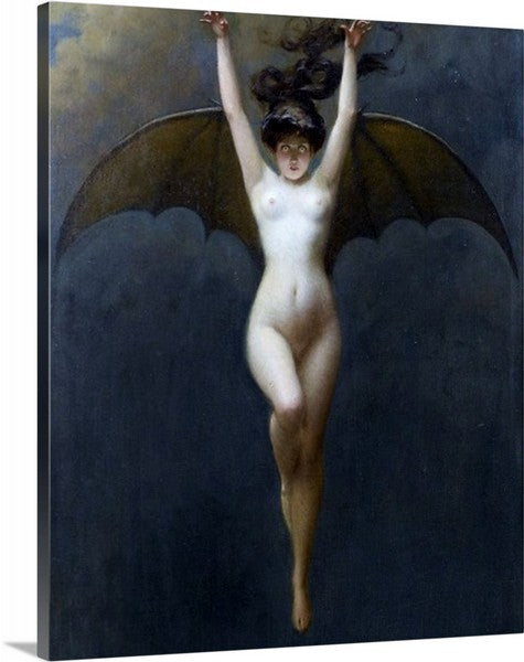 Bat-Woman by Albert-Joseph Pénot, Bat-Woman, Albert-Joseph Pénot, Classic Art, Canvas Art Print