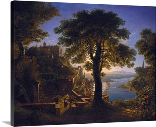 Castle by the River by Karl Friedrich Schinkel, Castle by the River, Karl Friedrich Schinkel, Classic Art, Canvas Art Print