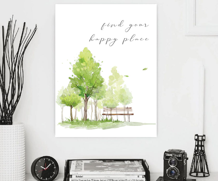 Find Your Happy Place Framed art, Canvas Art Print, home wall art