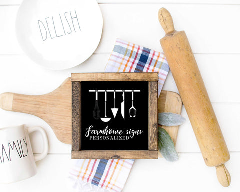 Farmhouse Wood Signs For Kitchen Modern Wall Art