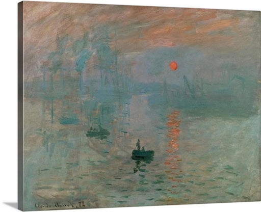Impression Sunrise by Claude Monet Classic Canvas Art Print