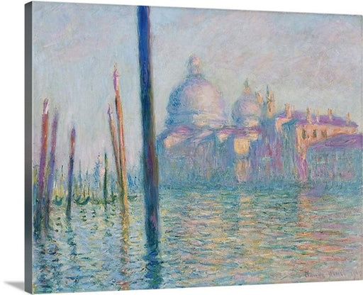 Le Grand Canal by Claude Monet Classic Canvas Art Print