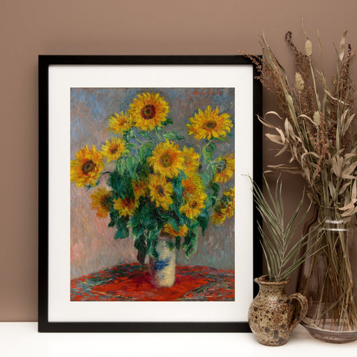 Sunflowers by Claude Monet Classical Framed Wall Art