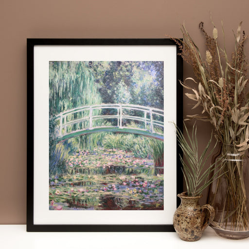 The Water Lily Pond Japanese Bridge by Claude Monet Classical Art