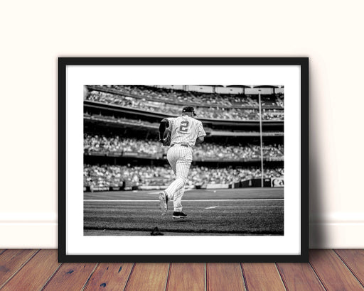 New York Yankees Derek Jeter Baseball Framed Wall Art Print