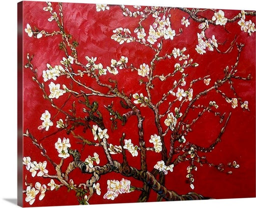 Red Almond Blossom by Vincent van Gogh Classic Art Canvas Print