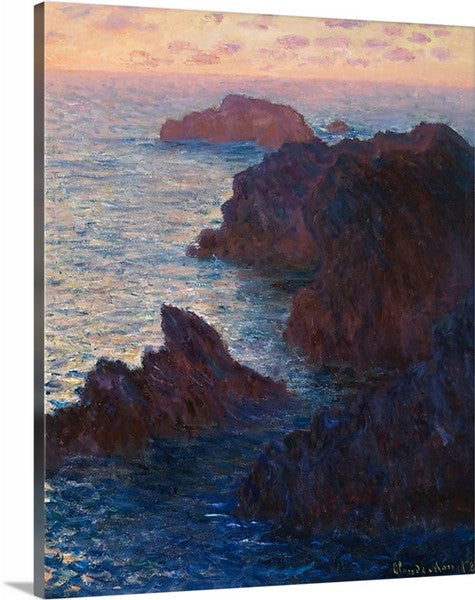 Rocks at Belle-lle, Port-Domois by Claude Monet