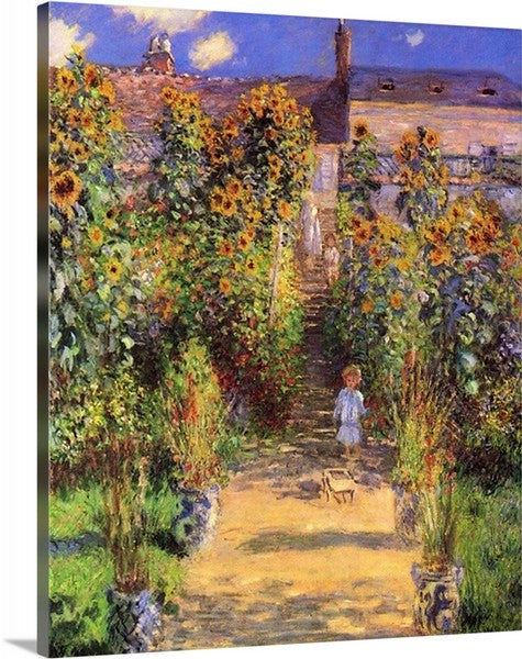 The Artist's Garden at Vétheuil by Claude Monet, Claude Monet Classic Art