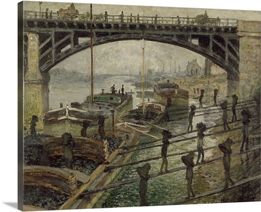 The Coalmen by Claude Monet, Classic Art, Canvas Art Print