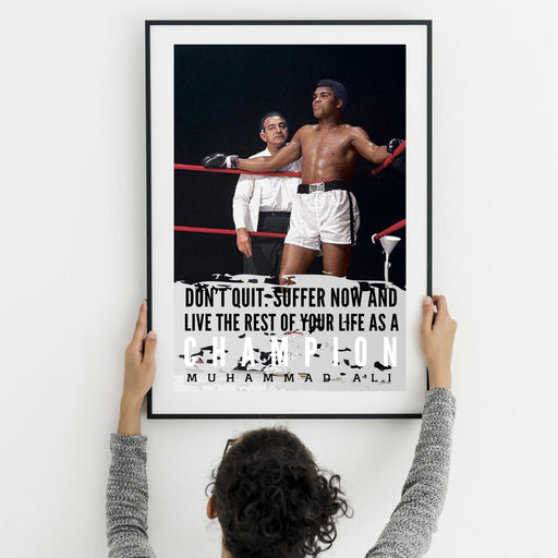 Muhammad Ali poster quotes motivational wall art decor