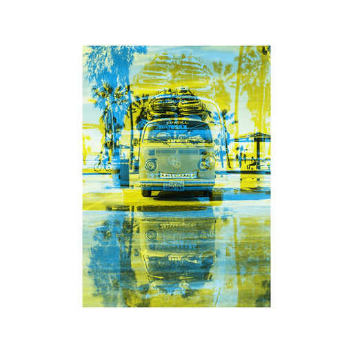 Surf van abstract pop art canvas print home wall decor
