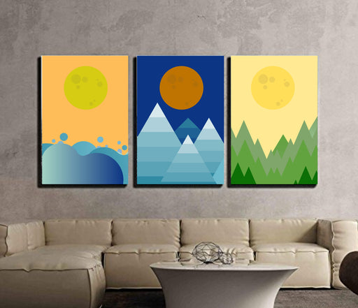 Abstract Sunrise Sunset Framed art or Canvas Prints Wall Art Abstract
