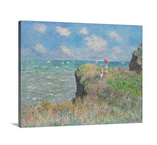 Cliff Walk at Pourville by Claude Monet Classical Framed Wall Art