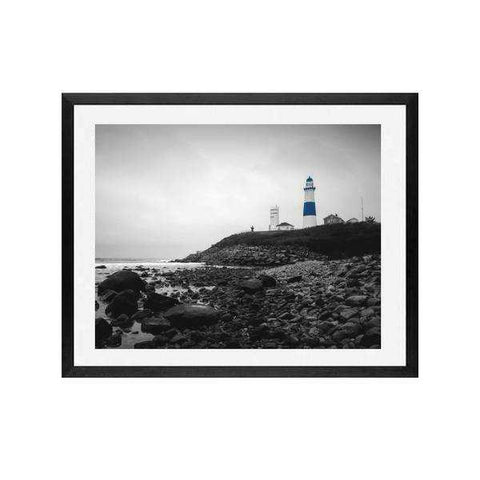 Lighthouse Black and white Art Print of lighthouse