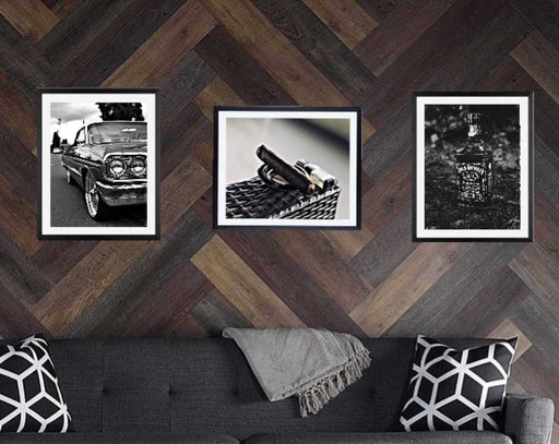 Man cave wall art decor framed set of 3