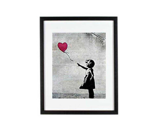 Banksy Girl With Balloon Framed Wall Art Print