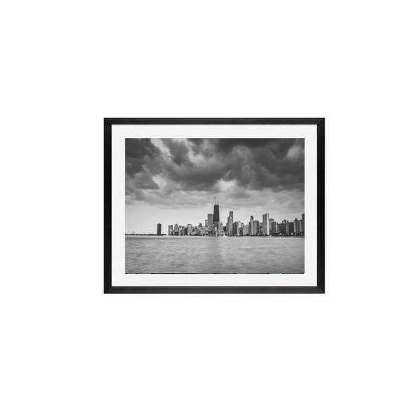 Chicago waterfront wall art print framed