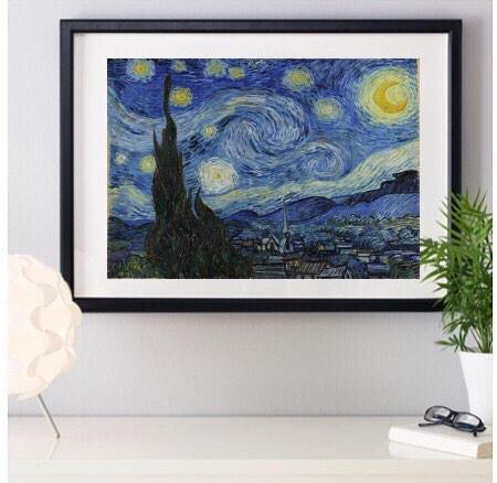 Starry Night Vincent Van Gogh Artwork Framed Art Poster Print