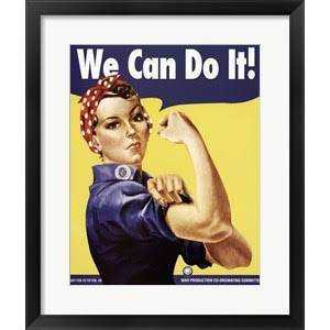 We Can Do It poster, Rosie The Riveter, Framed wall art, mindfulness gift, Fearless, Equality, Motivation, nursery, Nursery art, be fearless