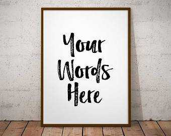 Custom word art quote wall art decor
