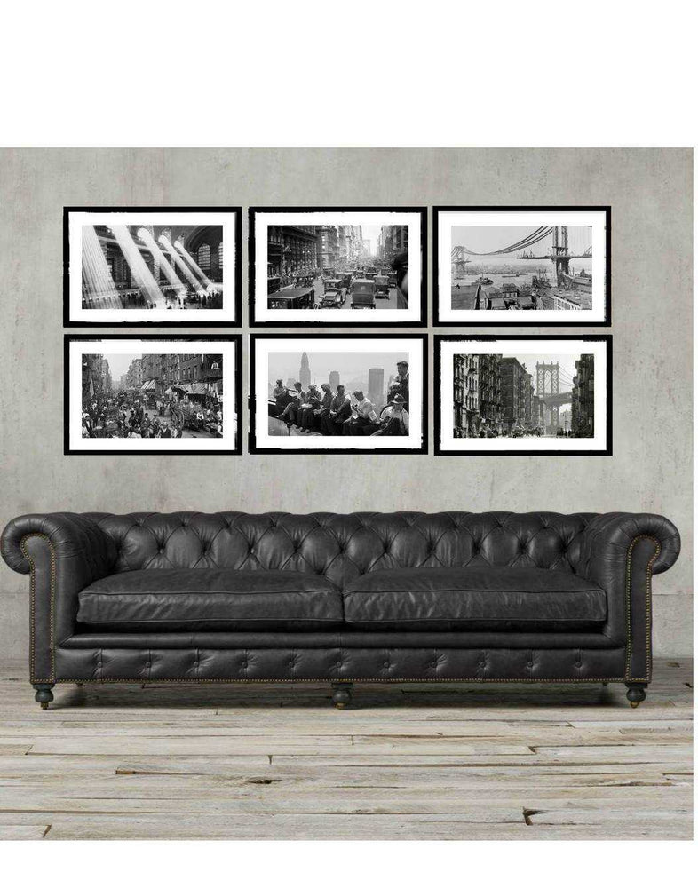 New York city wall art framed black and white photography 16x20
