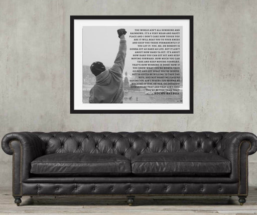 Rocky Balboa Poster Quote Wall Art Poster Print