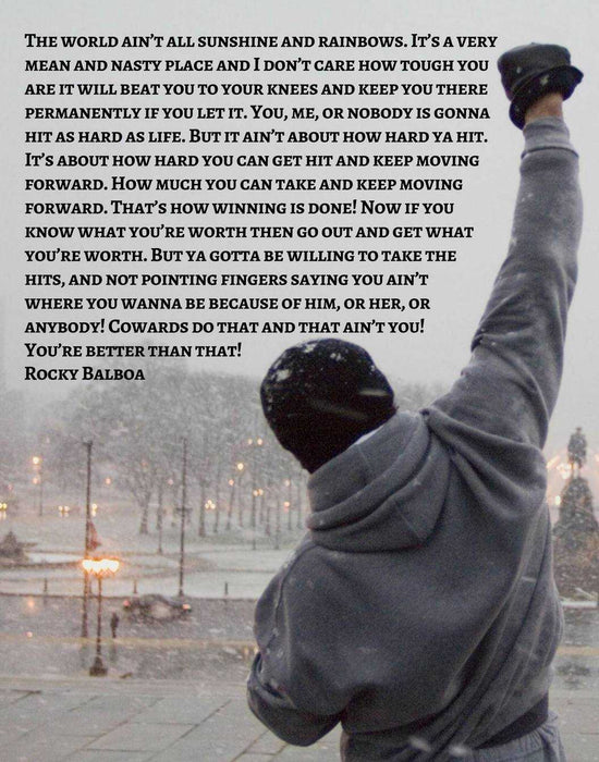 Rocky Balboa Poster with Inspirational wall art wall art decor