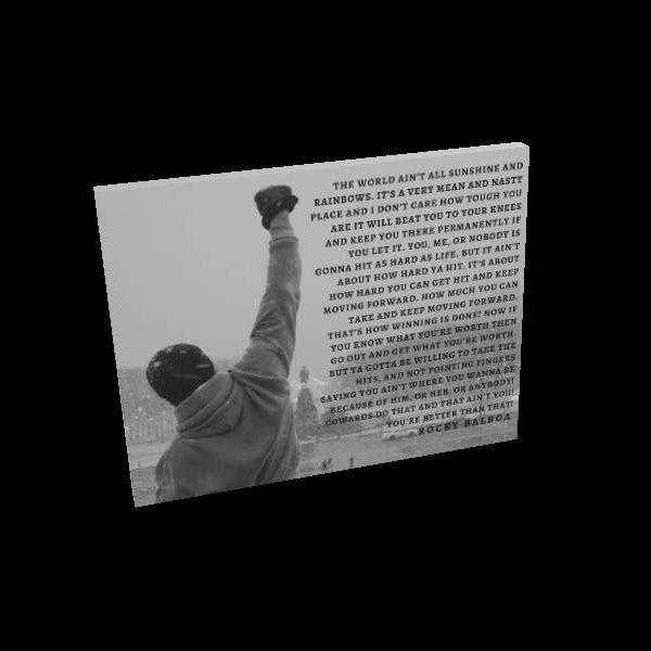 Rocky Balboa quote poster art print framed Sylvester Stallone Inspirational Quote