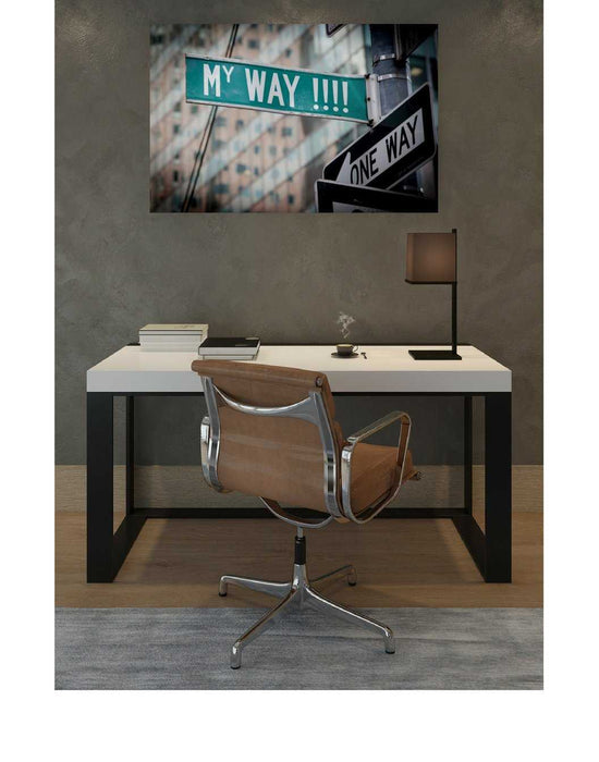 Personalized green street sign wall art with your text