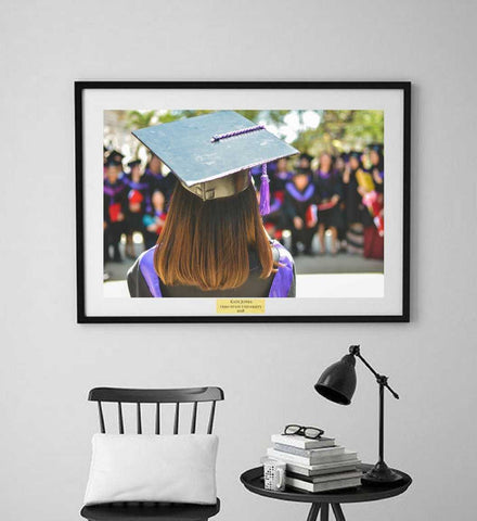 Custom print, Gift for her, wall decor, gift, personalized picture, personalized gift, graduation frame, graduation gift, framed wall art,